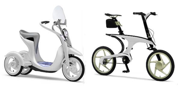 電動スクーター「EC-Miu」と電動アシスト自転車「PAS WITH」の画像