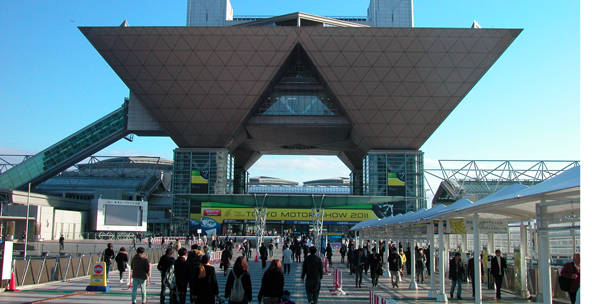 東京モーターショー会場の画像