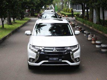三菱 電動車普及の共同研究に向けてインドネシアにPHEV、EVを10台寄贈