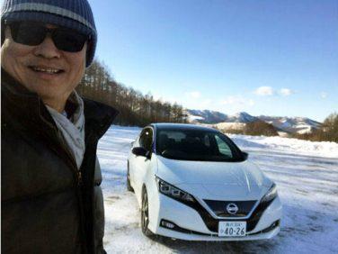 新型日産・リーフ 編集長レポート 信じられないほどの雪道安定走行能力を発揮!