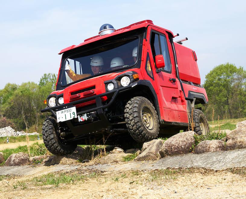 小型オフロード消防車 Red Ladybug
