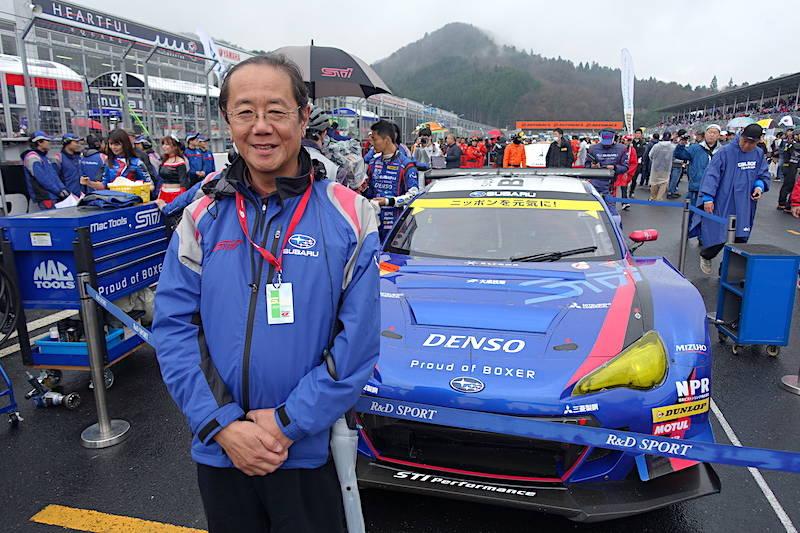平岡康雄STI新社長と19年BRZ GT300