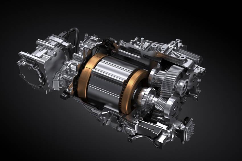 4KM型モーターと1段減速の駆動アクスル