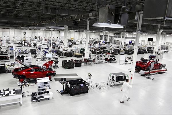 新型「NSX」北米仕様車の量産2