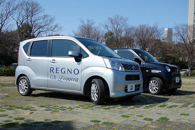レグノGRレジェーラを装着したムーヴとポテンザ・アドレナリンAE003を装着したN-ONE
