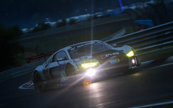 総合トップを飾ったアウディR8 LMS GT3