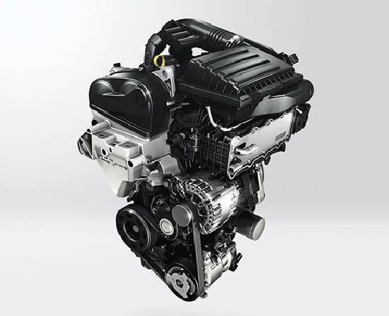 後期型用の1.2 TSI。モジュラー設計に変わりDOHCを採用