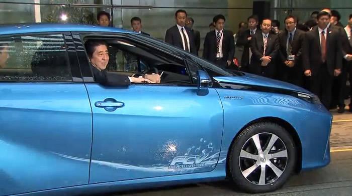 トヨタ ミライ 首相官邸 納車式
