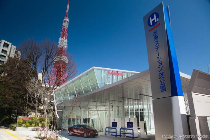 東京都心の芝公園にオープンしたイワタニ 水素ステーション芝公園。今回はここで水素重点を行った