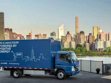 三菱ふそう 世界初の量産電気小型トラック「eキャンター」を発表
