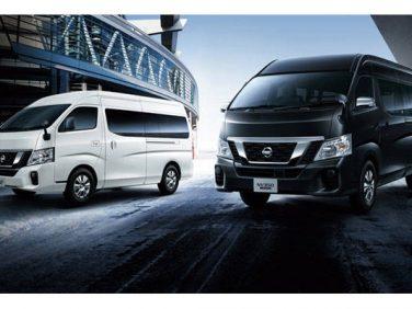 日産 NV350キャラバンのバンとマイクロバスに2.5Lガソリンエンジンの4WD車を追加