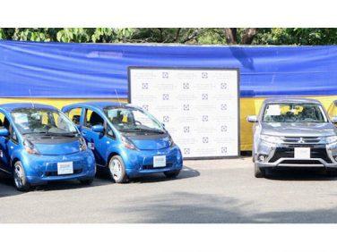 三菱 日本政府が三菱の電動車をフィリピンのエネルギー省に寄贈